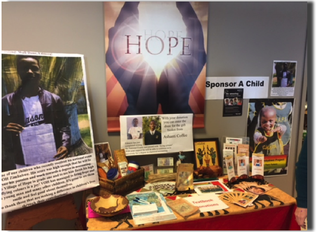 Mission Zimbabwe Display at the Maple Syrup Festival - Community of Hope - Hanover - March 31, 2018