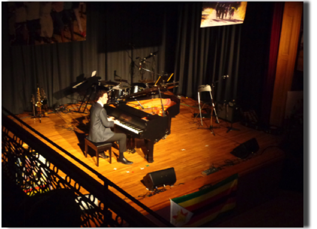 Sebastien Ellis entertains at the 2018 Valentines Concert - Victoria Jubilee Hall